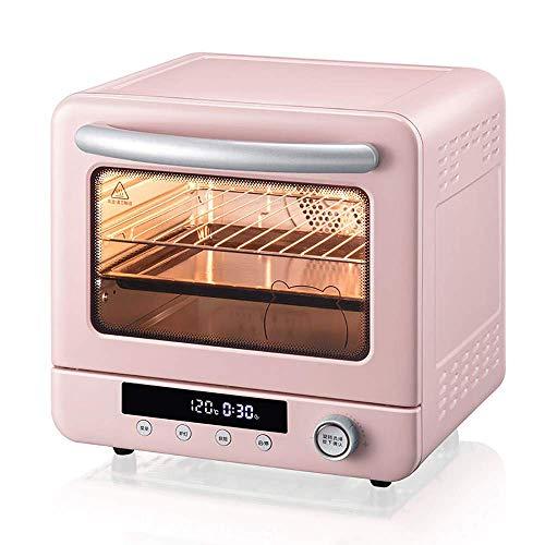 LZMXMYS Tostador horno, hornear el pastel de los hogares automático lleno de 20 litros de gran capacidad Pequeño mini horno, Hidden Calefacción Tubo, inteligente pantalla digital, fácil de limpiar, 26