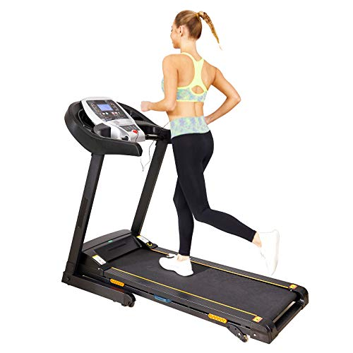 Caroma Folding Treadmill Portable, Treadmill for Home 2.25HP Power, Electric Treadmill with Incline Manual, 9 MPH Speed, Running Machine with APP Control, LCD and Heart Rate Monitor