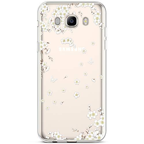 Hpory Custodia compatibile con Samsung Galaxy J5 2016 Trasparente Morbido Gel Silicone TPU Cover Bumper Backcover Antiurto Antiscivolo Gomma Shell Ultra Sottile Protezione Case [Shock-Absorption]