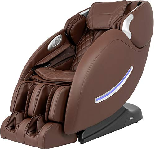 Osaki OS-4000XT B Massage Chair with LED Light Control, Brown, Ache Sensor, L-Track Massage, 2-Step Zero Gravity Mode, 6 Massage Styles, 6 Auto Massage Programs, Space Saving Technology