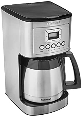 Cuisinart DCC-3400P1 Stainless Steel Thermal Coffeemaker, 12 Cup Carafe, Silver