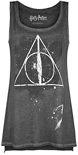 Harry Potter Die Heiligtümer des Todes Frauen Top dunkelgrau S 100% Baumwolle Fan-Merch, Filme