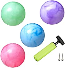 New Bounce Bouncing Balls for Kids - Set of 4 Marbleized Bouncy Balls Plus Pump & 2 pins, Inflatable Sensory Balls, Will Provide Hours of Fun and Entertainment for Children and Pets - 8.5