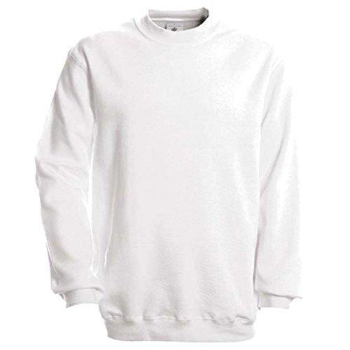 B&C Collection - Sudadera para Hombre (80% algodón Peinado, 20% poliéster) Blanco Blanco XXXL