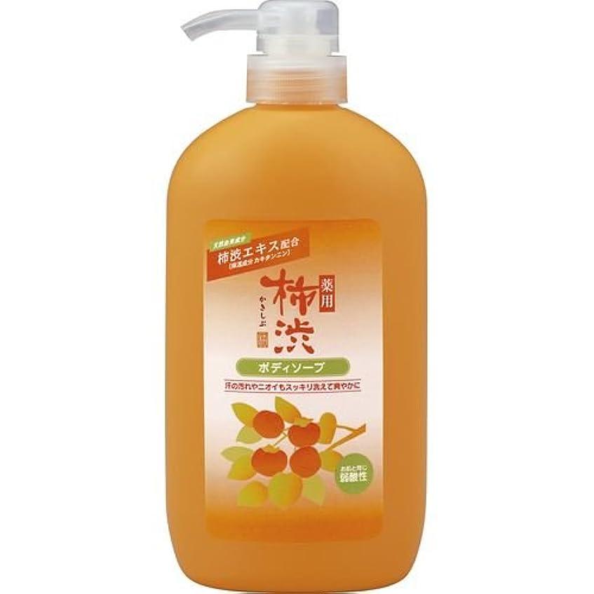 タービン孤児お風呂を持っている薬用柿渋ボディソープ ボトル600ml