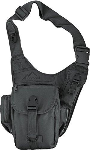 normani Schultertasche, Multifunktions Umhängetasche für Damen und Herren Military Tactical Rucksack Brusttasche Sling Bag für Radfahren Wandern Camping Freizeit Uni Schule Farbe Anthrazit