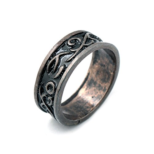 Dark Moon Vintage #9 Zinc Alloy Ring for Man and Women
