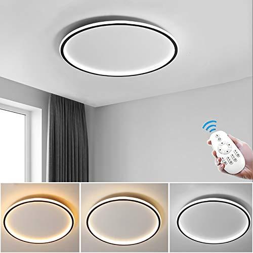 Ring LED-Deckenleuchte, Runde Dimmbar Deckenlampe(inkl Fernbedienung), Modern Dekor Wohnzimmer-Lampe, Ultradünne Schlafzimmer Deckenlicht, Acryl-Schirm Deckenbeleuchtung,60cm