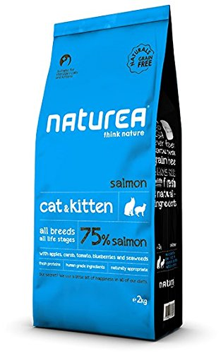 Naturea Naturals Croquettes salmón sin Cereales para Gato & Gatito 2kg ⭐