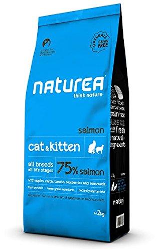 Naturea Naturals Croquettes salmón sin Cereales para Gato & Gatito 2kg 🔥