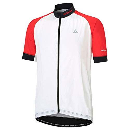 Airtracks - Maglia da ciclismo a maniche corte Pro Line, colore: Bianco/Rosso/Nero - XXL