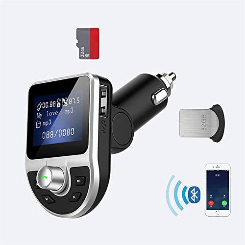 QUARKJK Wireless Car Kit Handsfree FM Transmitter, MP3 Player Radio AUX LCD Screen TF U Disk USB BT39 with Best Price Car Mp3