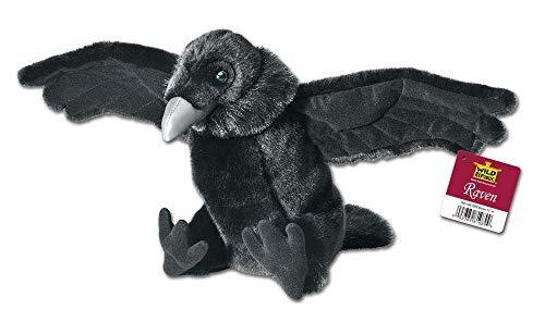 Wild Republic 81089 Pájaro Peluches Rabe Stofftier, Cuddlekins Plüschtier, Kuscheltier 30 cm, schwarz