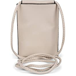 styleBREAKER Sac à bandoulière pour téléphone portable pour dames, couleurs unies, mat, unicolore, sac à bandoulière…