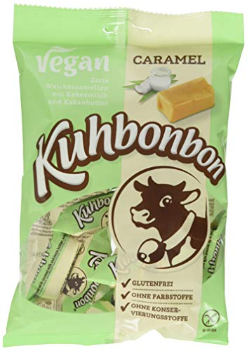Kuhbonbon Vegan Caramel - Weichkaramellen mit Bio Kokosmilch und Kakaobutter - 165g
