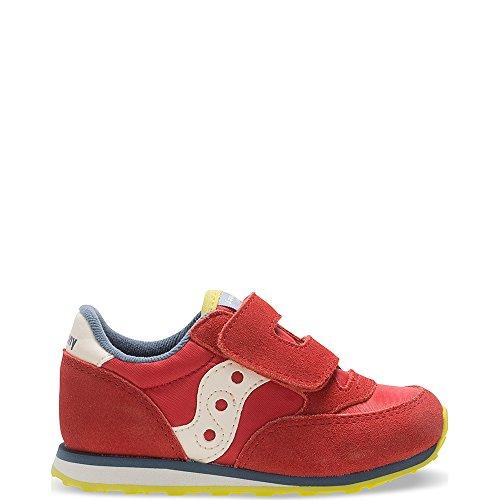 Saucony Jazz Hook & Loop Sneaker (Toddler/Little Kid), Red/Blue/Lime, 11 M US Little Kid