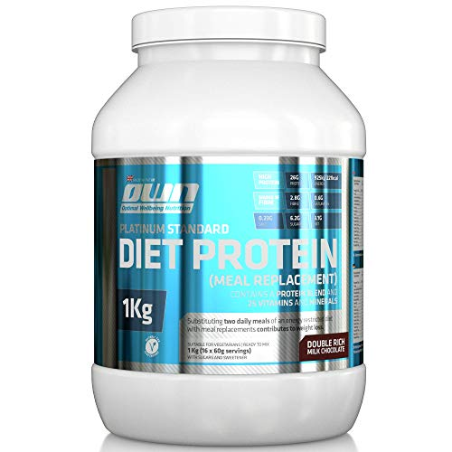 OWN - Platinum Standard Diet Protein Meal Replacement Shake, Chocolate Flavour, 1kg