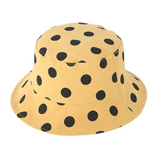 Voberry- Chapeau de Soleil pour Enfants en Tissu à Pois Casquette de Baseball pour Enfants