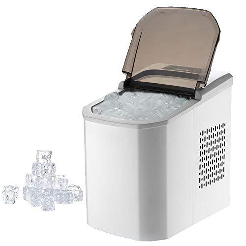 XMAGG Eiswürfelmaschine, Ubereitung in 6-8 Minuten, 112W Ice Maker, 15 kg Eiswürfel pro Tag, 1,2 Liter Wassertank 2 Eiswürfelgrößen Eiswürfelbereiter