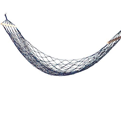 Hamacas de nailon tejido de 270 x 100 cm, hamaca para personas individuales, columpio, camping, viajes, jardín, carga máxima: 150 kg, para acampar al aire libre (tamaño: 270 x 100 cm; color: azul)