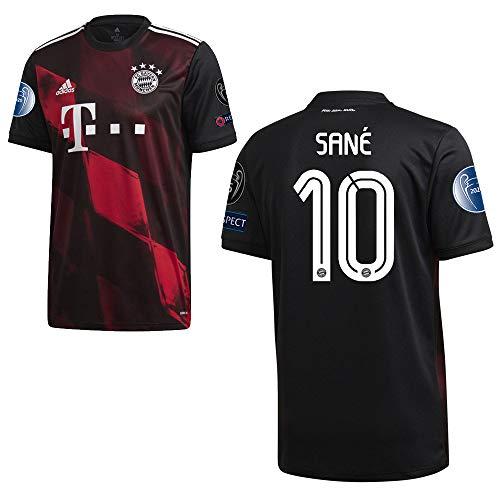 adidas FCB FC Bayern München Trikot 3RD Ausweichtrikot 2020 2021 CL Logos Kinder Sané 10 Gr 140