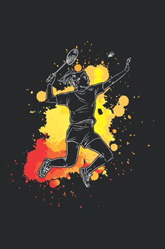 Badminton Federball Notizbuch: 120 Seiten Kariert - Badmintonspieler Federballspieler Sport