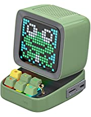 Divoom Ditoo Pixel Art Gaming Portable Bluetooth Speaker with App Controlled 16X16 LED Front Panel, Also a Smart Alarm Clock (Green)