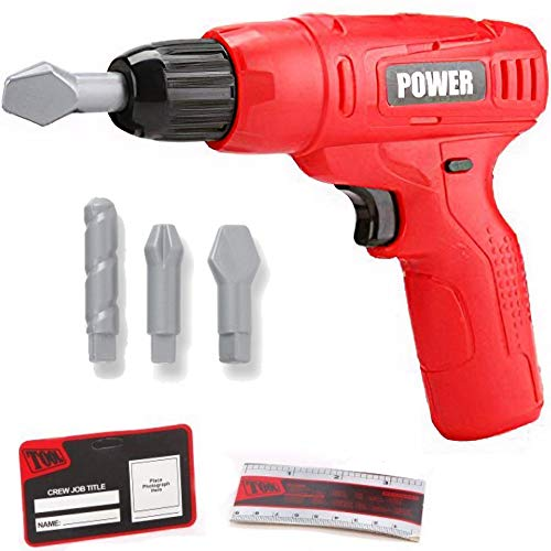 Liberty Imports Power Tools Mini Toy Drill Set with 3 Drill Bits