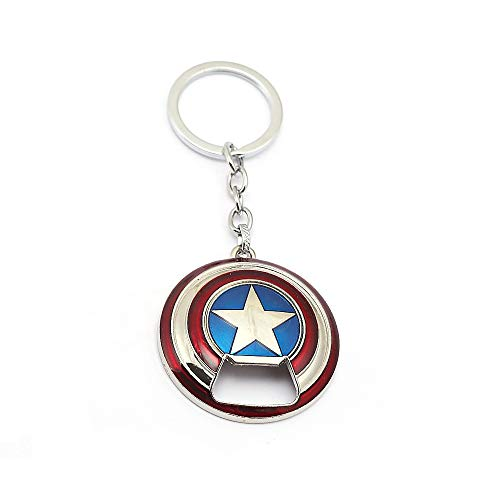 Nidavellir Capitan America, apribottiglie scudo portachiavi, scudo portachiavi apribottiglie, portachiavi scudo Capitan America (argento)