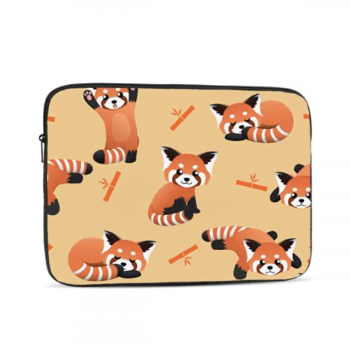 Mac Cases Cute Red Panda Animal Cartoon Doodle MacBook Pro Case 2015 Multi-Color & Size Choices 10/12/13/15/17 Inch Computer Tablet Briefcase Carrying Bag