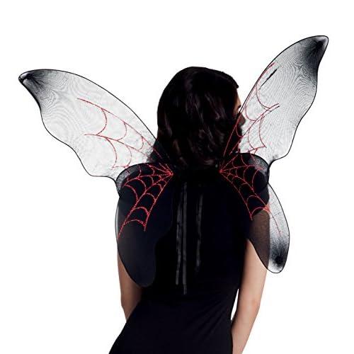Boland- Ali Dark Spiderfly per Adulti, Nero/Rosso, Taglia Unica, 52855