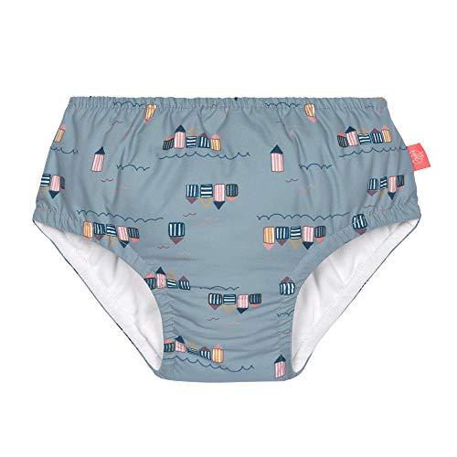 LÄSSIG Baby Schwimmwindel Badewindel wiederverwendbar waschbar Auslaufschutz UV-Schutz/Splash & Fun Baby Swim Diaper girls Beach House, 36 mo