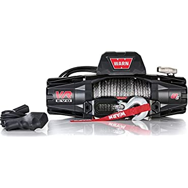 WARN 103251 VR EVO 8-S Standard Duty Winch with Synthetic Rope 8,000 lb. Capacity