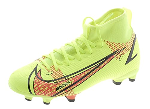 Nike Superfly 8 Academy Fg/Mg Fußballschuh, Volt/Black-Bright Crimson, 34 EU