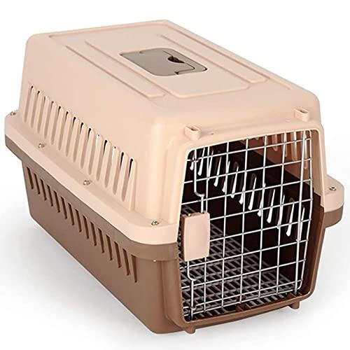 Caja de Transporte para Animales, Transportín Rígido para Perros de Talla Pequeña y Gatos, Transporte de Plástico para tu Mascota, Rejillas de Ventilación- Perros Adultos, Cachorros, Gatos y Otros