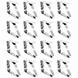 com-four 16x Tischtuchklammern aus Edelstahl, Tischdeckenbeschwerer, Tischdeckenhalter (16 Stück)