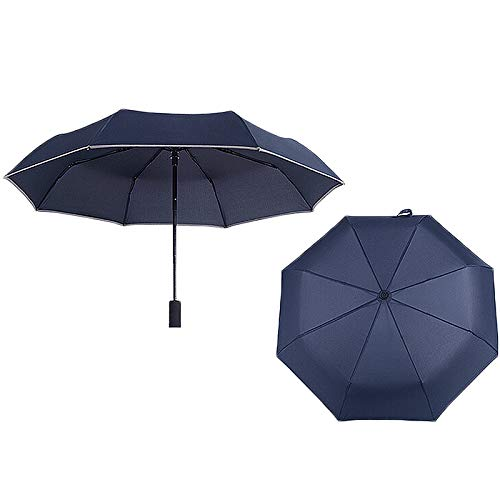 SAIrch Fully automatic folding flashlight light umbrella Tri-fold with LED light Portable and durable can be used in cloudy and sunny days men and women can available
