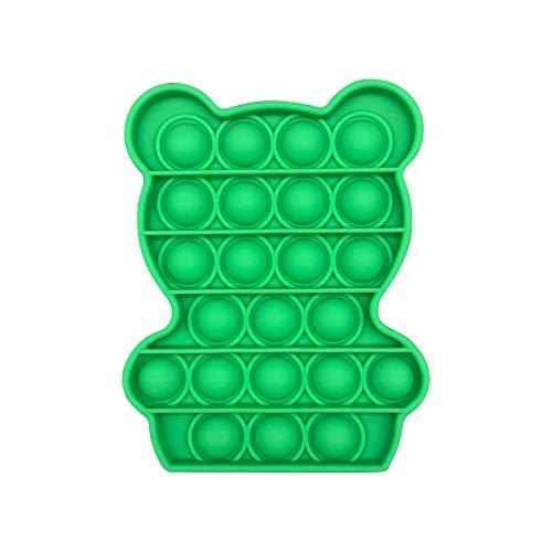 Mllkcao Valentine's Day Animal Bear Push Bubble Fidget Toys Sensory Special Needs Stress Relief Toys for Adults Stress Balls for Adults Green