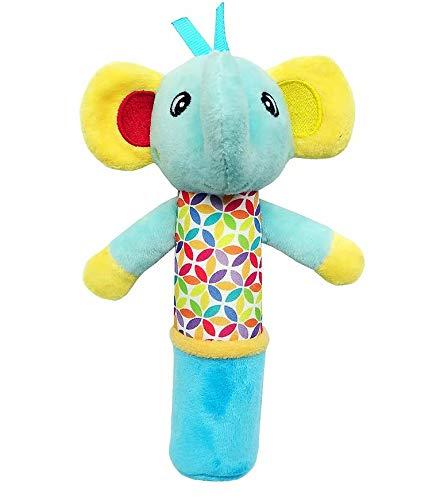 Big Bargain Store Plüschtier Rasselstöcke Schönes Kuscheltier Baby Quietschspielzeug Handglocken für Kinder Neugeborenes Geschenk Elephant