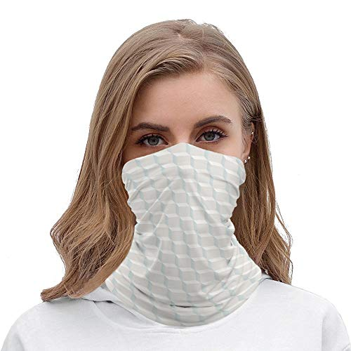 White Cubes Multifunctional Bandana for Rave Face Mask Dust Wind UV Sun, Neck Gaiter Tube Mask Balaclavas Headwear, Motorcycle Face Mask for Women Men Face Scarf
