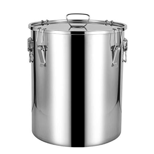 Cubo de leche de acero inoxidable, para cerveza de leche, jarabe de arce de acero inoxidable, olla grande (tamaño: 20 L)