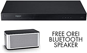 $246 » UBK90 Streaming 4k UHD Blu-Ray Player w/Dolby Vision WiFi Streaming Player + OREI Bluetooth Speaker