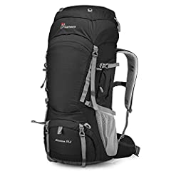 Aluminum Rod Backpacking System- support the pack and distribute the weight of its contents across the body more appropriately, by transferring much of the weight to the hips and legs 🏃Bottom Access:There is a divider between the sleeping bag compart...