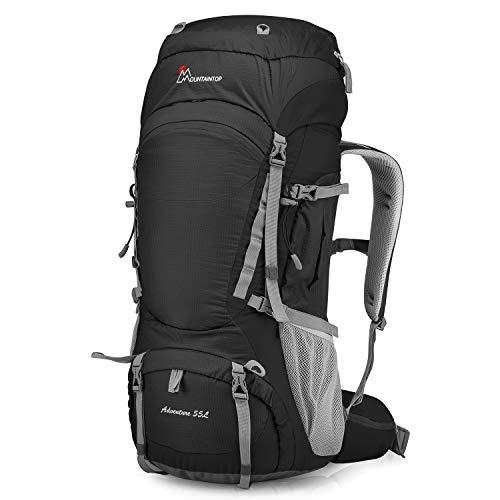 MOUNTAINTOP 55L Outdoor Wanderrucksäcke Trekkingrucksäck Reiserucksäck mit Regenhülle