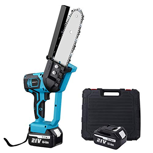 APROTI 8 Inch Electric Chainsaw with 2 Rechargeable Battery, Cordless...