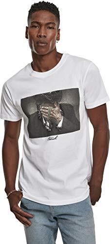 Mister Tee Herren Trust Tee T-shirts, White, XXL