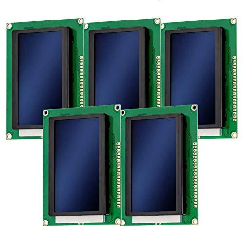 AZDelivery 5 x Modulo Pantalla LCD Display 12864 128 x 64 píxeles con Fondo Azul con 4x20 caracteres blancos compatible con Arduino con E-Book incluido!