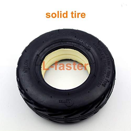 6 Zoll-Rad des elektrischen Roller-Rad-6x2 mit Luft-Reifen oder Fester Reifen-Metallnabe mit 608 Lager 8mm Achsen-Loch-Trolley-Wagen-Rad (solid tire)