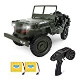 Rc Trucks, Military Truck Drive Off-Road Rc Cars, 1:10 Scale High Speed 4WD 2.4Ghz Remote Control Trucks for Adults and Kids