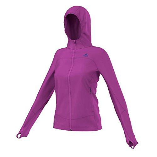adidas Outdoor Women's Terrex Swift 37.5 Fleece Hoodie, Flash Pink, X-Large